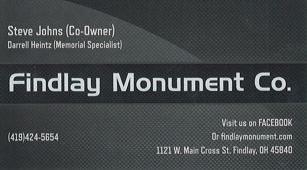 FINDLAY MONUMENT CO - Sample Gallery
